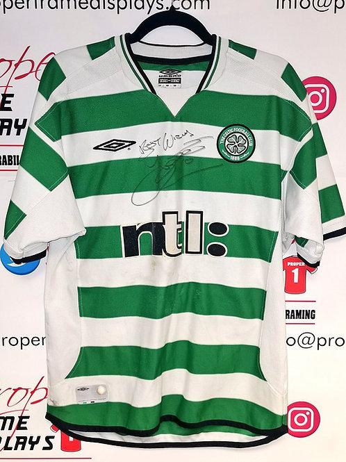John Hartson signed shirt