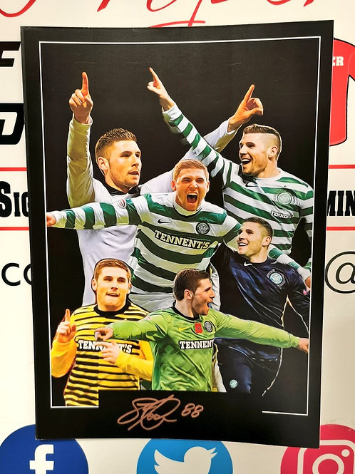 Gary Hooper signed A3 montage