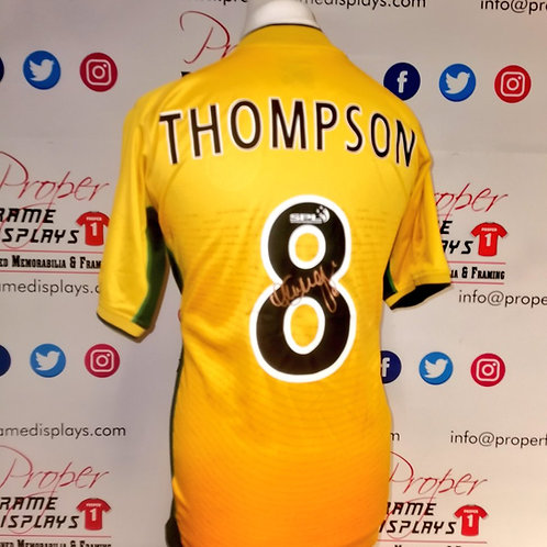 Alan Thompson signed Celtic shirt