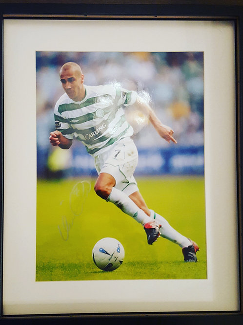 Henrik Larsson Hand Signed Photograph