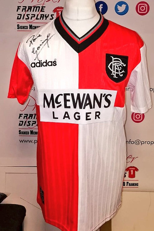 Paul Gascoigne signed Rangers shirt
