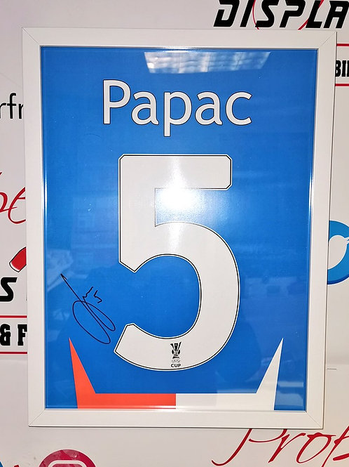 Sasa Papac signed shirt style picture