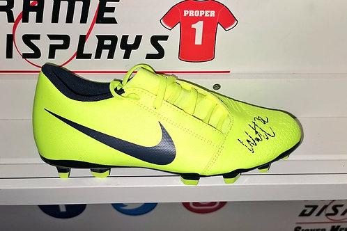 Tony Watt signed boot