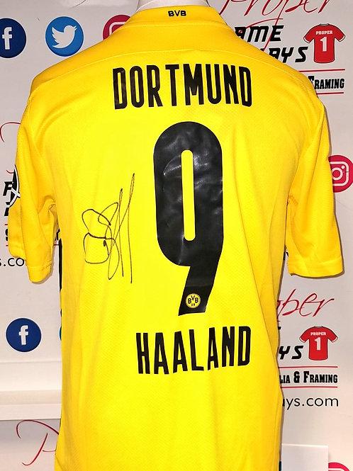 Erling Haaland signed shirt