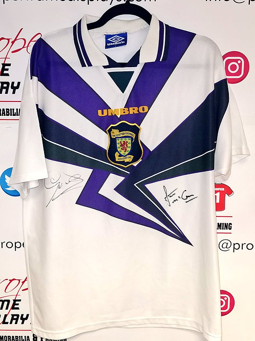 Gordon Durie & Stuart McCall signed shirt