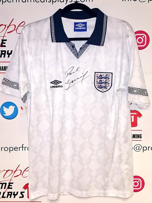 Paul Gascoigne signed shirt