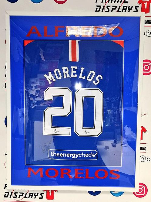 Alfredo Morelos signed Rangers shirt