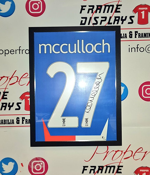 Lee McCulloch signed UEFA Cup print