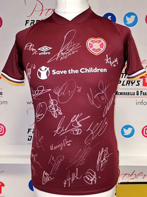 Squad signed Hearts shirt