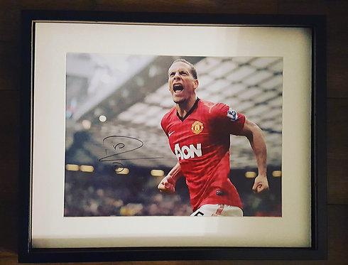 Rio Ferdinand Hand Signed Photograph