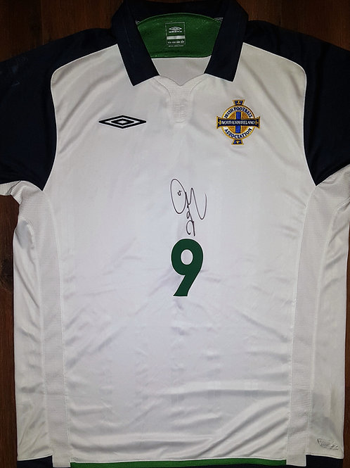 David Healy signed Northern Ireland Away shirt 2009