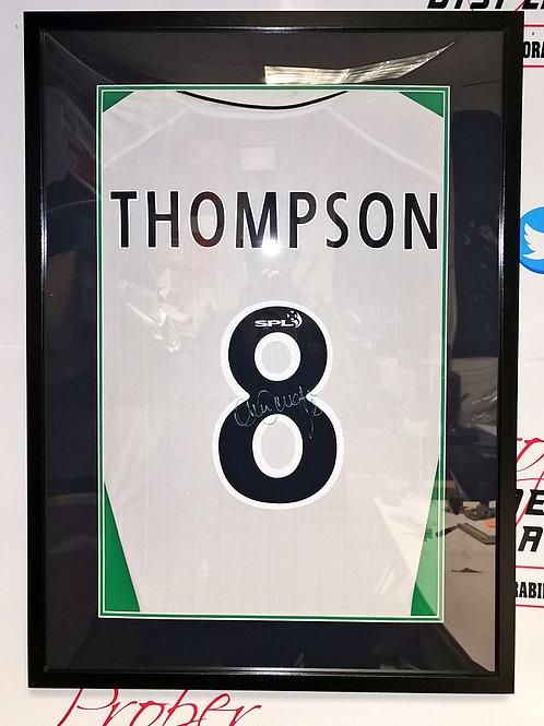 FRAMED Alan Thompson signed Celtic shirt