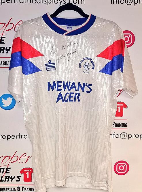 John Greig signed shirt