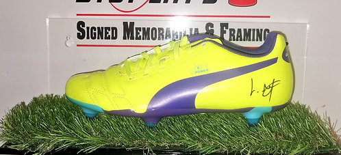 Louis Moult signed boot