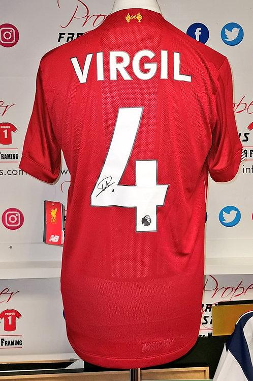 Virgil Van Dijk signed shirt