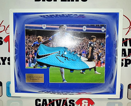 Lassana Coulibaly signed Football boot
