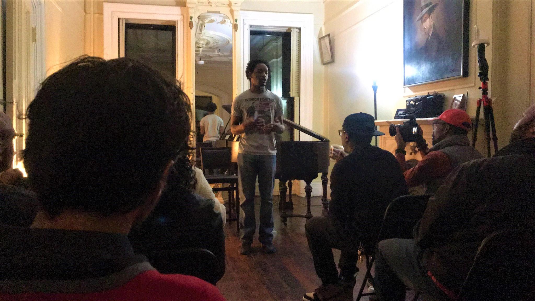 Me at Langston Hughes' home 2
