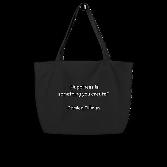 Large Organic Cotton Tote Bag (Black)