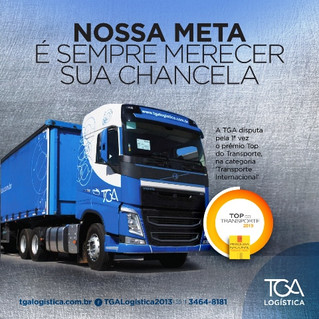 TGA Logística participa do Top do Transporte 2019 na categoria Transporte Internacional
