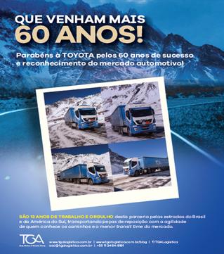 Grupo TGA parabeniza Toyota pelos 60 anos e agradece os 13 anos de parceria de sucesso