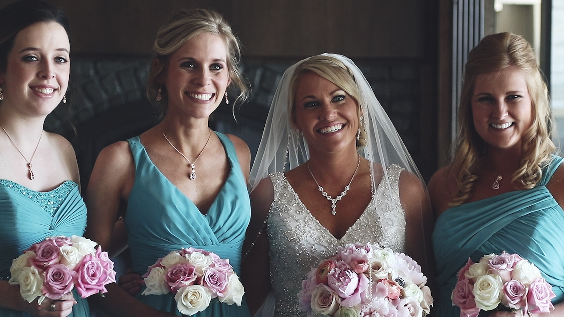 bridesmaids smile