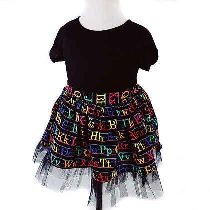 ABC Skirt with Tulle -  (Tulip Sleeve Bodysuit/Onesie sold separately)