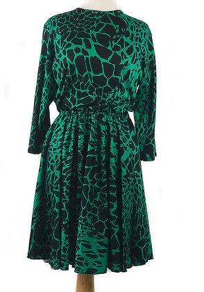 Adult Emerald Green Leopard Print Dress