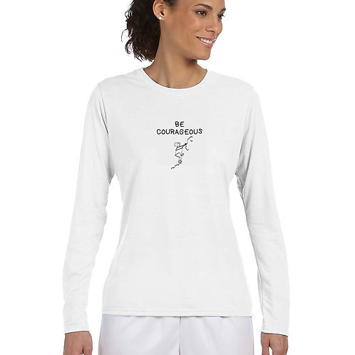 "Woman T-Shirt ""BE COURAGEOUS – I conquer fear """