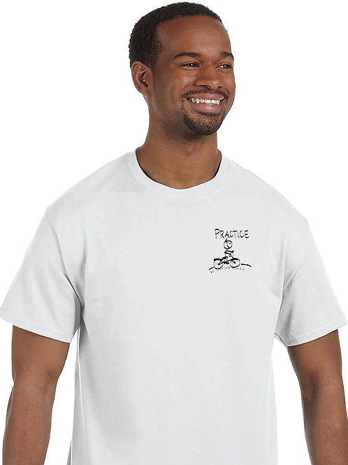 "Men T-Shirt ""PRACTICE - Practice creates reality"""