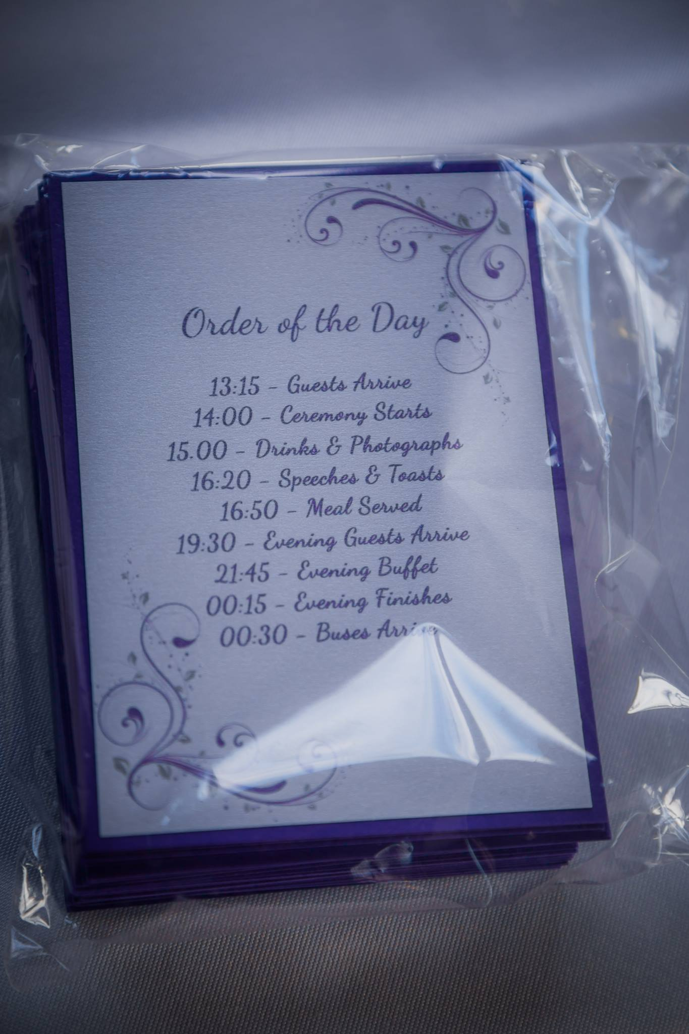 Order of the Day
