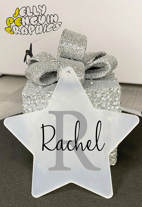 Personalised Christmas Frosted Star