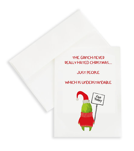 The Grinch Never Really Hated Christmas Card