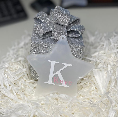 Personalised Frosted Star