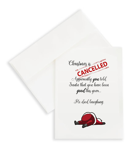 Christmas is Cancelled..