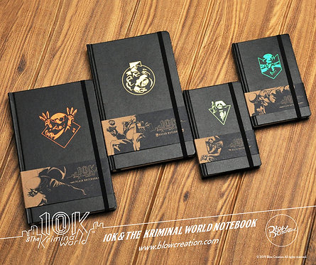 [10K & The Kriminal World] Notebook & Playing Cards Complete Set