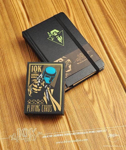 "[10K & The Kriminal World] Notebook & Playing Cards Set ""Pan"""