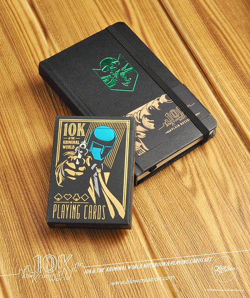 "[10K & The Kriminal World] Notebook & Playing Cards Set ""Ares"""