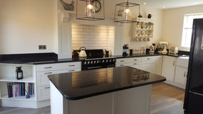 Modern clean line kitchen with Granite