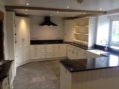 Light painted Kitchen