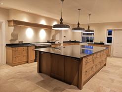 Large Oak Kitchen with an impressive Island Unit