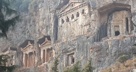 Lycian rock tombs- Kaya Mezarlari