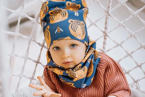 Komplet czapka&komin Tiger