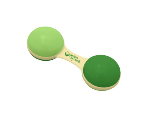 Cornstarch Dumbbell rattle