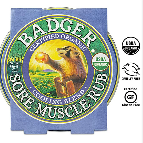 Badger Sore Muscle Rub | Cooling Blend