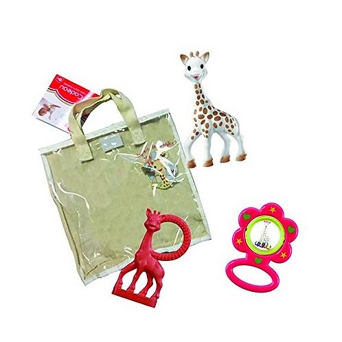 Sophie the Giraffe + Cotton Bag