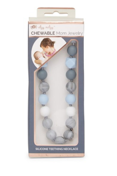 Chewable Nursing Necklace | Gray