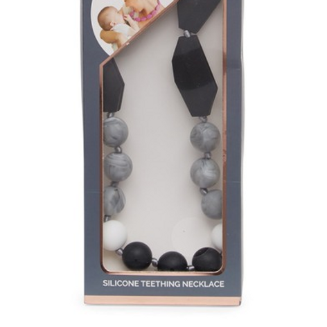 Chewable Nursing Necklace | Black& Gray