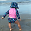 Thumbnail: Girls Rashguard Set with Snap Swimsuit Diaper