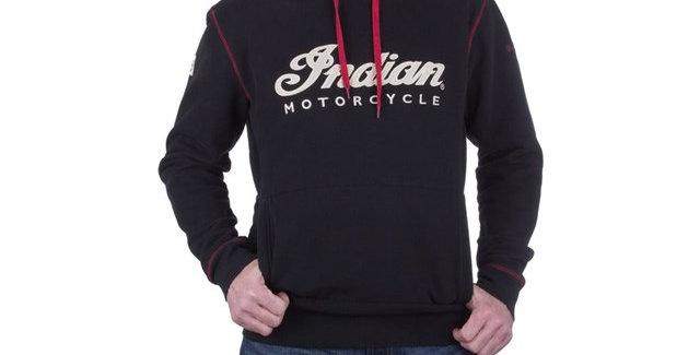 Indian Men's IMC Pullover Hoodie Sweatshirt - L - schwarz