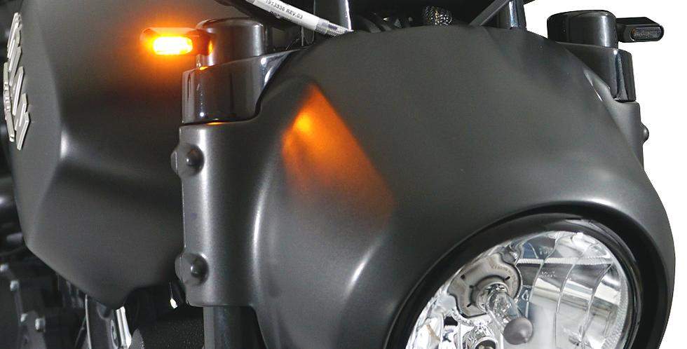 IRON OPTICS - LED Blinker mit Gabel Kappen - Scout / Sixty / Bobber